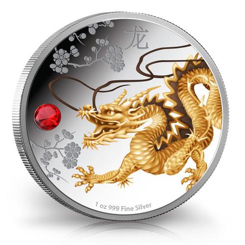 Niue 2015 1 oz Silver Coin - Feng Shui Series - Dragon