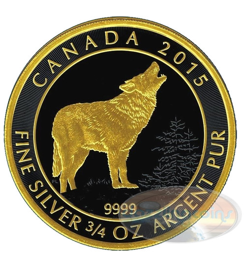 Wolf $2 Silver Gold Black Empire Edition 2015