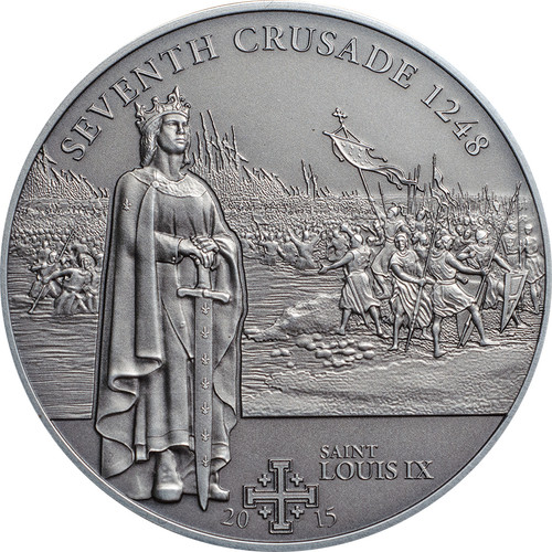 7th. Crusade Saint Louix IX Silver Coin 5$ Cook Islands 2015