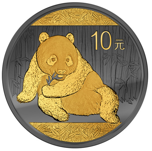 2015 Golden Enigma Panda-1 oz Coin- Ruthenium & Gold