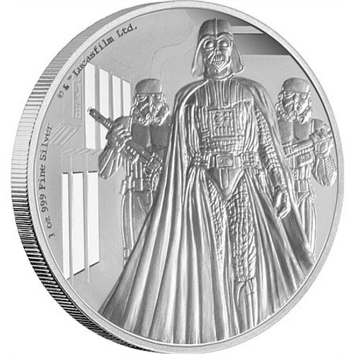 2016 1 oz Silver Coin - Star Wars Classic: Darth Vader