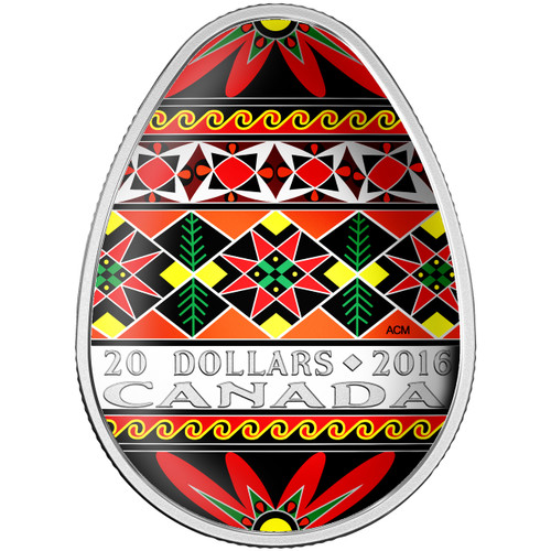 TRADITIONAL UKRAINIAN PYSANKA - 2016 $20 1 oz Fine Silver Coin