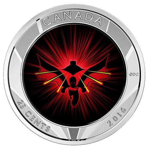 2016 25 cent Lenticular 3D Coin - Batman v Superman