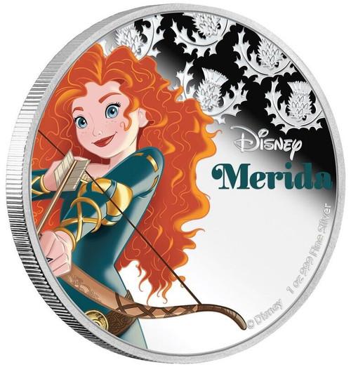 Disney Princess MERIDA - 2016 Niue 1 oz Silver Coin