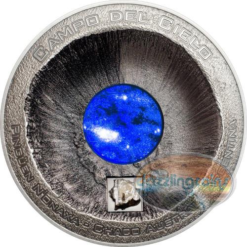 Meteorite - Campo del Cielo 3 oz Silver $20 Cook Islands 2016