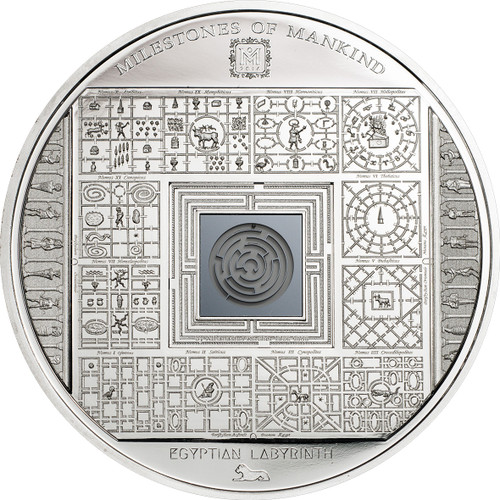 Milestones of Mankind - EGYPTIAN LABYRINTH - 2016 $10 50g Silver Coin