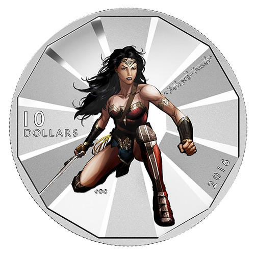 WONDER WOMAN - Batman v Superman Dawn of Justice 2016 $10 Silver Coin