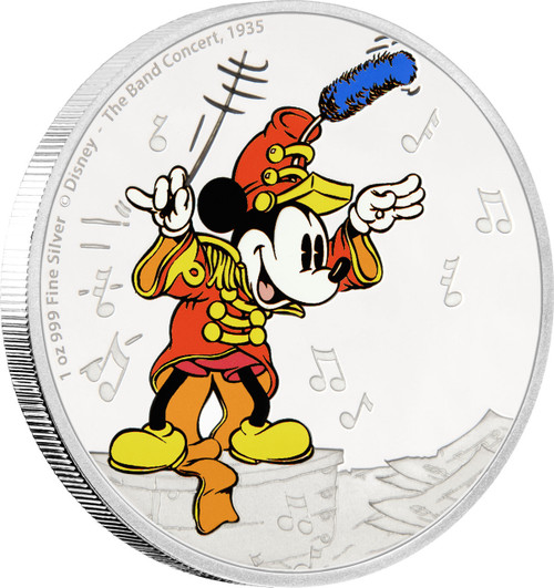 MICKEY MOUSE - Through the Ages - The Band Concert - 2016 1 oz Silver Coin