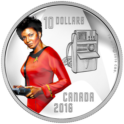 UHURA - STAR TREK™ Crew - 2016 $10 Fine Silver Coin