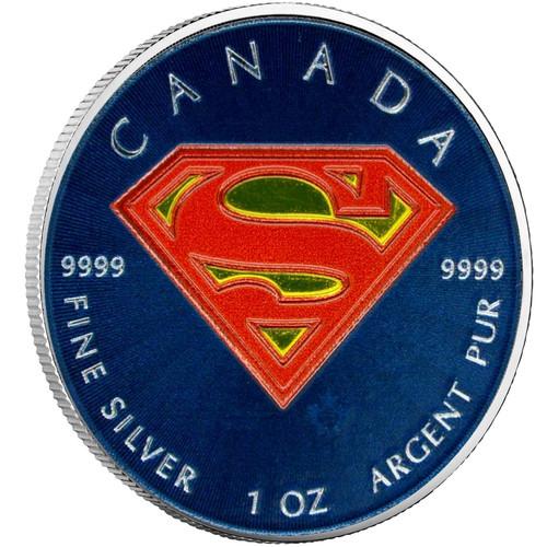Silver Superman S-Shield 1oz Color 2016 Canada