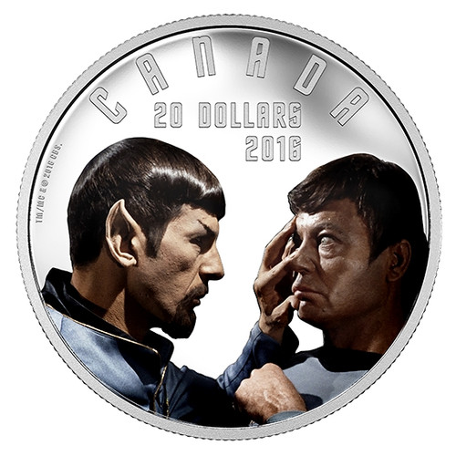 "Star Trek -Mirror Mirror ""SPOCK & MCCOY"" 2016 $20 1 oz Silver Coin"