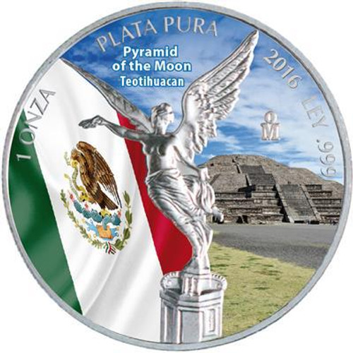 LIBERTAD - Pyramid of the Moon TEOTIHUACAN - 2016 1 oz Silver