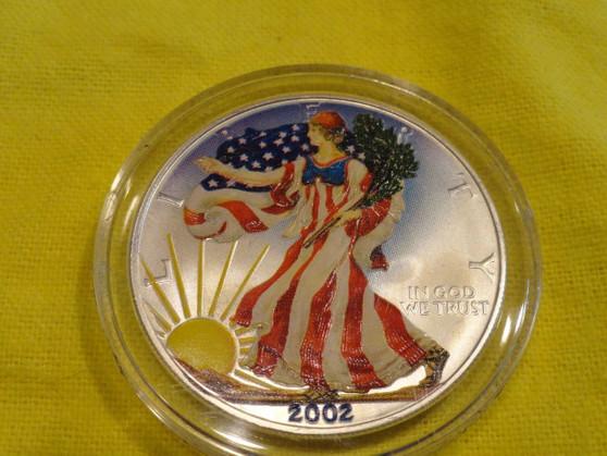 2002 1 oz 999  Colorized  American Eagle Coin