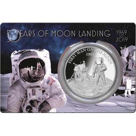 50 Ann. of Moon Landing 1 oz silver coin Barbados 2019