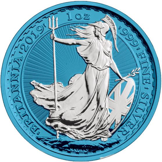 BRITANNIA Space Blue Edition 1 oz Silver Coin  2019