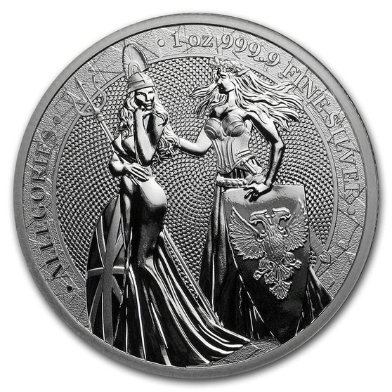 BRITANNIA & GERMANIA 2019 – The Allegories 5 Mark 1 OZ Pure Silver