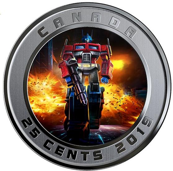 TRANSFORMERS - OPTIMUS PRIME - 25 cent 3D Lenticular Coin - Canada