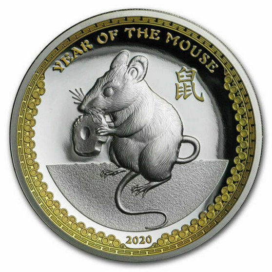 Year of the Mouse - 1 oz Proof Silver Coin - Ultra High Relief 2020 Palau