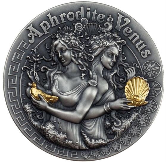 APHRODITE & VENUS GODDESSES 2 oz pure silver coin Niue 2020