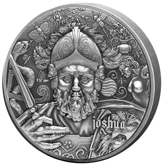 JOSHUA The Nine Worthies Series 2 oz Silver Coin 2020 Chad