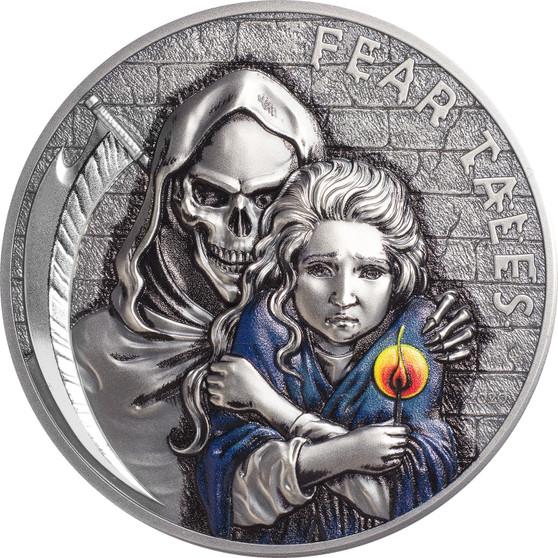 LITTLE MATCH GIRL Fear Tales 2 oz Silver Coin $10 Palau 2020