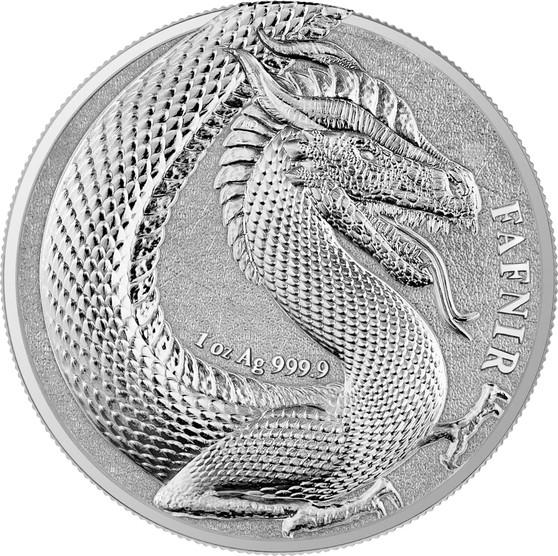 FAFNIR GEMINUS - GERMANIA BEASTS -2020 5 Mark 1 oz Silver Round