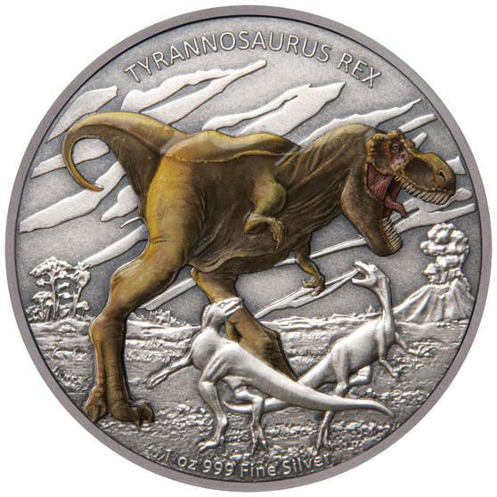 TYRANNOSAURUS REX Dinosaur 1 oz Silver Proof Coin Niue 2020