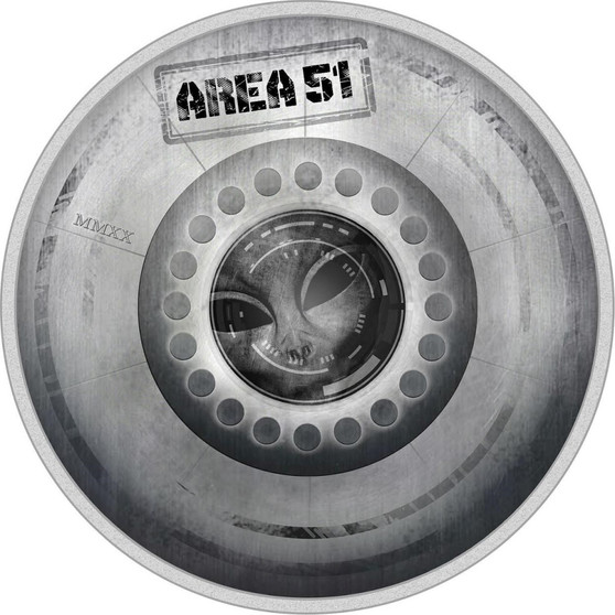 AREA 51 UFO Alien Great Conspiracies 2 Oz Silver Coin 10$ Palau 2020
