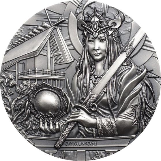 AMATERASU Gods Of The World 3 oz Silver Coin Cook Islands 2021