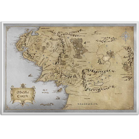 THE LORD OF THE RINGS - Middle Earth 35g Silver Foil Niue 2021