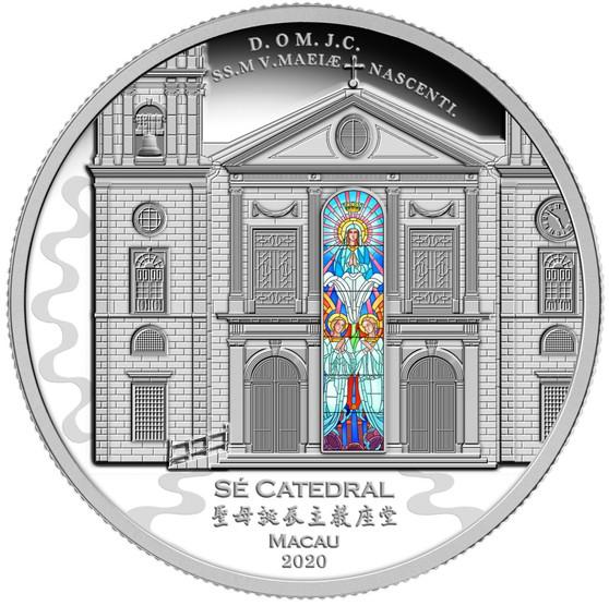 Sé CATHEDRAL  of MACAU  3 Oz Silver Proof  Coin Solomon Islands 2020