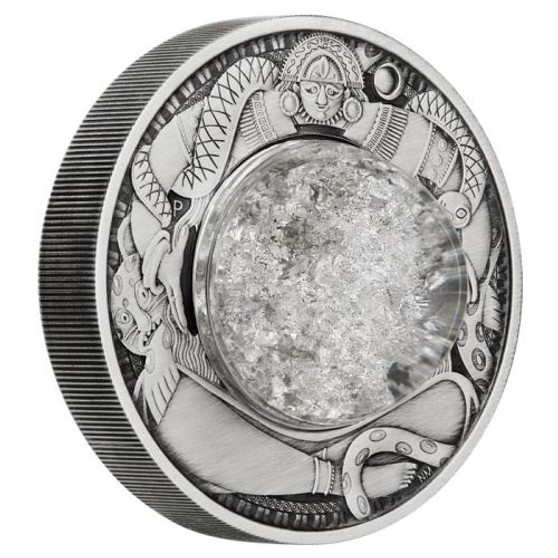 TEARS OF THE MOON 2 oz Silver Antiqued Coin $2 Tuvalu 2021