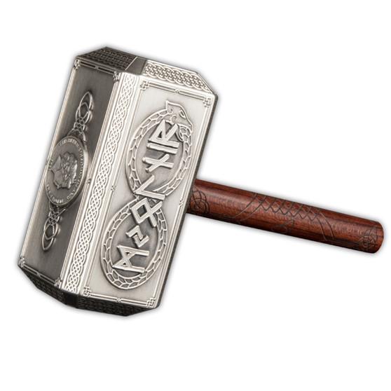 THOR HAMMER Mjölnir 500g Silver Coin $10 Solomon Island 2021