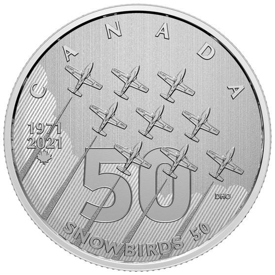 SNOWBIRDS - Moments to Hold 1/4 oz. Pure Silver Coin Canada 2021