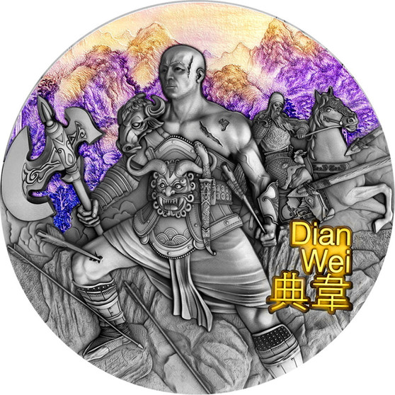 DIAN WEI Warriors of Ancient China 3 oz Silver Coin Niue 2021