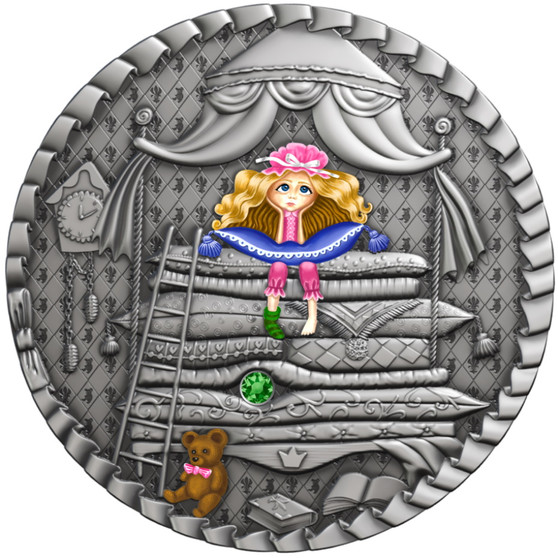PRINCESS AND THE PEA Fairytale series 1 oz Silver Coin $1 Niue 2021
