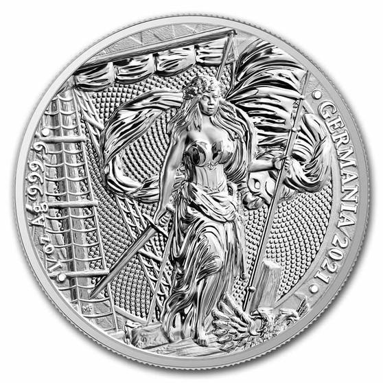 LADY GERMANIA  1 oz Pure Silver Coin 5 Mark  2021