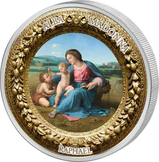 Perfection in Art - Madonna of the Magnificat $10 2 oz Silver Coin - Niue 2015