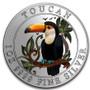 TOUCAN 1 Oz Silver Color Coin 1$ Niue 2018