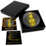 Queen's Beasts Yale of Beaufort 2 oz Silver Ruthenium and Gold Gilded 2019