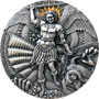 St. MICHAEL and DRAGON Apocalypse 3 oz Silver Coin Cameroon 2020