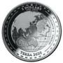 TERRA World Map 1 oz Silver Proof Like Coins 2020 Tokelau