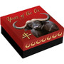 OX Lunar Year 7 elements Silver Proof Coin Niue 2021