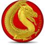 GERMANIA BEASTS  FAFNIR Red  1 oz Silver 2020