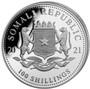 2021 ELEPHANT African Wildlife Coin 1 oz Silver coin Somalia