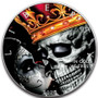 Kings Crown SKULL 1 oz Silver Eagle Silver Colorized Coin USA 2020