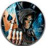 Ace of Death SKULL 1 oz Silver Eagle Silver Colorized Coin USA 2020