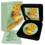 Vincent Van Gogh SUNFLOWERS 1 oz. Silver Eagle Color Coin USA 2020