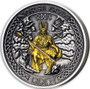 ODIN Norse Gods 2 oz Silver Gold Plating Coin Cook Islands 2021