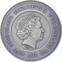 SCARABAEUS 50 g Silver Coin with Turquoise insert $5 Niue 2021
